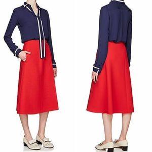 Pendleton Wool Red Midi Skirt